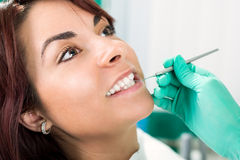 Pulizia dentaria Fotografia Stock