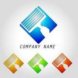 Pulizia di finestre di logo Immagini Stock