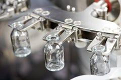 Pulizia industriale della rondella della medicina farmaceutica e bottiglie di secchezza Immagine Stock Libera da Diritti