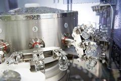 Pulizia industriale della rondella della medicina farmaceutica e bottiglie di secchezza Immagini Stock