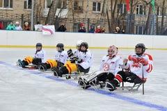 Pulkahockeylag Royaltyfria Foton