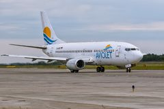 Boeing 737 Aviolet Stock Images