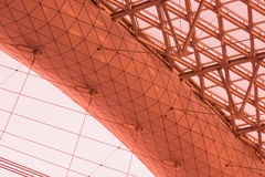 In Pulkovo-1 terminal. The part of roof construction Royalty Free Stock Photo