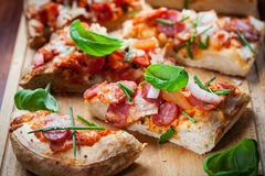 Pull aparat pizza bread Royalty Free Stock Photo