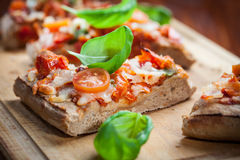 Pull aparat pizza bread Royalty Free Stock Photos