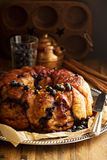 Pull apart monkey bread. With orange and blueberry stock image