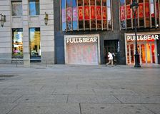 Pull and Bear store, Barcelona, Spain Royalty Free Stock Photo