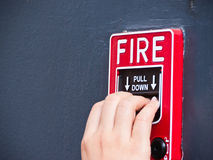 Pull down fire alarm Royalty Free Stock Image