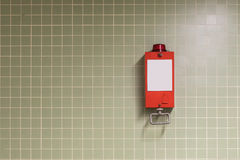 Pull handle - emergency brake  fire alarm Royalty Free Stock Images