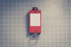 Pull handle - emergency break / fire alarm Royalty Free Stock Images