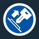 Pull Key Symbol Sign On black Background On black Background,Vector llustration royalty free illustration