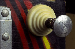 Pull lever of a vintage pinball machine Royalty Free Stock Photo