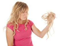 Pull out hair sad Royalty Free Stock Photography