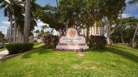 Pull out shot Meyer Amphitheatre at Sunfest Park West Palm Beach FL