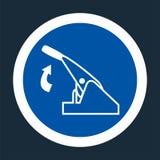Pull Parking Brake Symbol Sign On black Background On black Background,Vector llustration. Vehicle safety hand driver car control automobile security equipment royalty free illustration