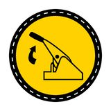Pull Parking Brake Symbol Sign Isolate On White Background,Vector Illustration. Vehicle, safety, hand, driver, car, control, automobile, security, equipment royalty free illustration