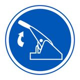 Pull Parking Brake Symbol Sign Isolate On White Background,Vector Illustration EPS.10. Vehicle, safety, hand, driver, car, control, automobile, security stock illustration
