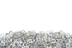 Pull ring of cans isolate on white background Stock Image