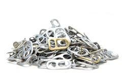 Pull ring of cans isolate on white background Stock Photography