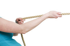 Pull on the rope Royalty Free Stock Photo