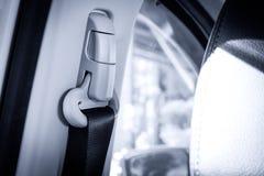 Pull safety belt interior car stock image