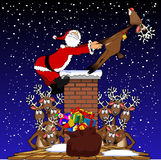 Pull_santa Stock Photos