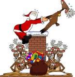 Pull_santa2 stock photos