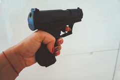 Pull the trigger Stock Photo