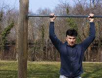 Pull-up Practice Royalty Free Stock Photo
