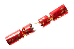 Pulled Christmas Cracker Stock Photo