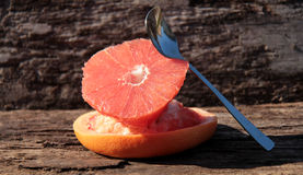 Pulled grapefruit in the sun Stock Images