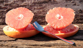 Pulled grapefruit in the sun Stock Photo