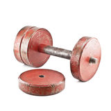 Pulled an old dumbbell Stock Photography