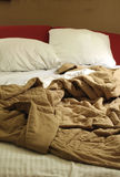 Pulled out sofa bed stock image
