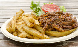 Pulled pork/chicken sandwich Royalty Free Stock Image