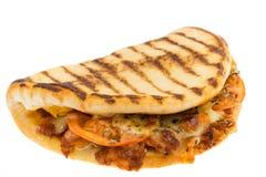 Pulled pork pannini flatbread Royalty Free Stock Image