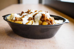 Pulled pork and poutine Royalty Free Stock Photos