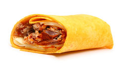 Pulled Pork and Provolone Wrap Royalty Free Stock Photos