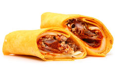 Pulled Pork and Provolone Wrap Royalty Free Stock Image