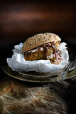 Pulled Pork Roll Stock Photo