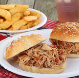 Pulled Pork Sandwich Royalty Free Stock Photos