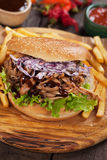 Pulled pork sandwich Royalty Free Stock Image