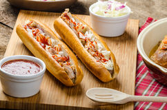 Pulled pork sandwich Stock Photos