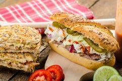 Pulled pork sandwich panini Stock Photography