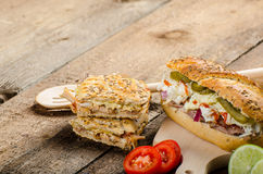Pulled pork sandwich panini Royalty Free Stock Images
