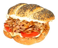 Pulled Pork Sandwich Roll Royalty Free Stock Photo