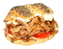 Pulled Pork Sandwich Roll Stock Images
