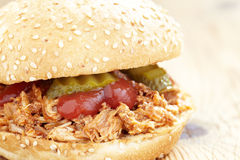 Pulled pork sandwich Stock Images