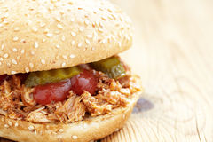 Pulled pork sandwich Stock Photos