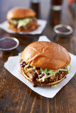 Pulled pork sandwiches Royalty Free Stock Photos